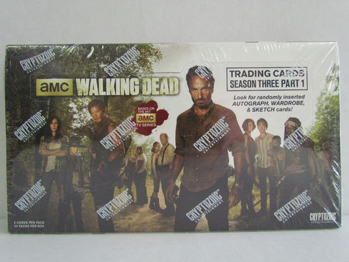 Cryptozoic The Walking Dead Season 3 Part 1 Hobby Box