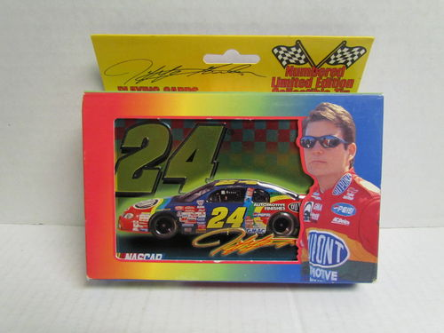 1999 Jeff Gordon Limited Edition Collector's Tin with Two Decks of Playing Cards