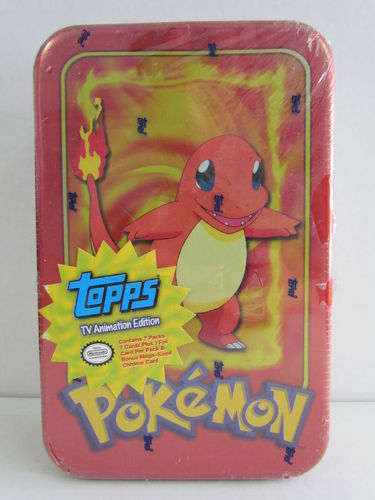 Topps Pokemon TV Animation Tin (Charmander)