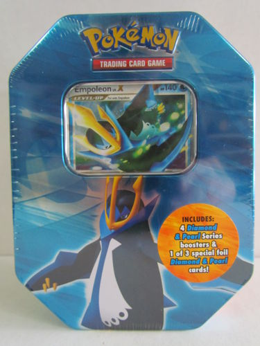 Pokemon Diamond & Pearl 2007 Holiday EMPOLEON Tin