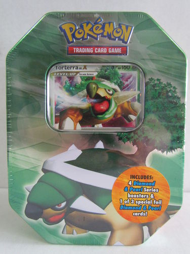 Pokemon Diamond & Pearl 2007 Holiday TORTERRA Tin