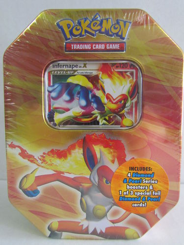 Pokemon Diamond & Pearl 2007 Holiday INFERNAPE Tin