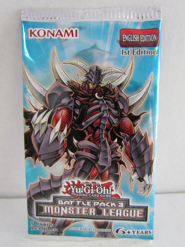 YuGiOh Battle Pack 3 Monster League 1st Edition Booster Pack