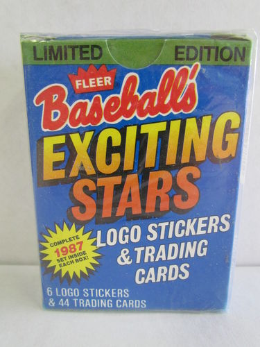 1987 Fleer Exciting Stars Baseball Factory Set