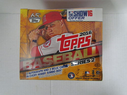 2016 Topps Series 2 Baseball Jumbo Box