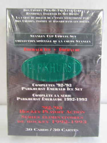 1992/93 Parkhurst Emerald Ice Stanley Cup Update Set