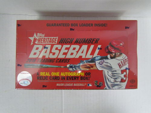 2016 Topps Heritage High Number Series Baseball Hobby Box