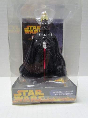 Star Wars Hand-Crafted Glass Holiday Ornament DARTH VADER