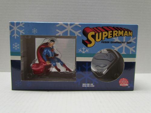 DC Direct SUPERMAN Resin Ornament Set