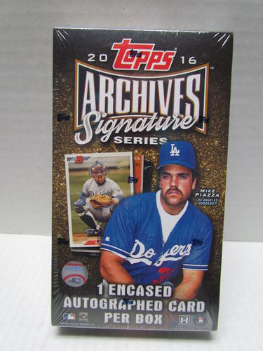 2016 Topps Archives Signature Series Baseball Hobby Box