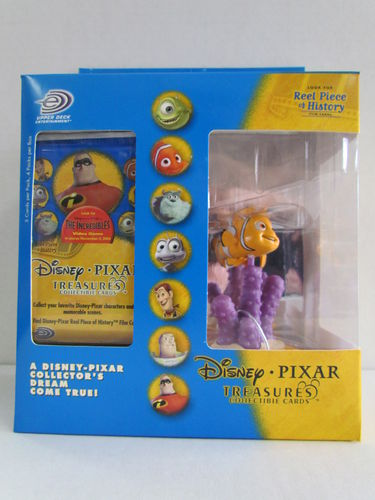 Upper Deck Disney Pixar Treasures Collectible Cards and Nemo Figure Box