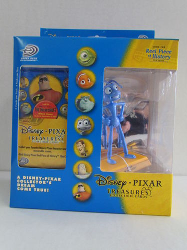 Upper Deck Disney Pixar Treasures Collectible Cards and Flik Figure Box
