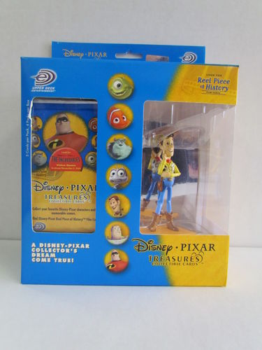 Upper Deck Disney Pixar Treasures Collectible Cards and Woody Figure Box
