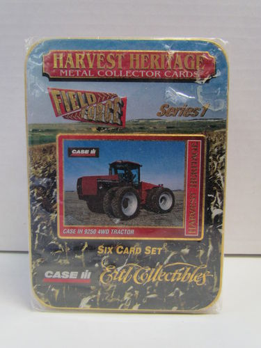 Ertl Collectibles Harvest Heritage Metal Collector Tractor Tin Set CASE III