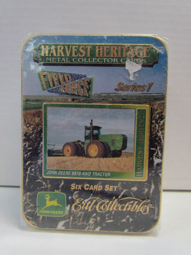 Ertl Collectibles Harvest Heritage Metal Collector Tractor Tin Set JOHN DEERE