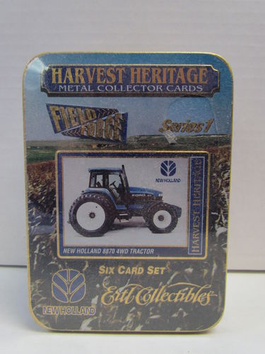 Ertl Collectibles Harvest Heritage Metal Collector Tractor Tin Set NEW HOLLAND