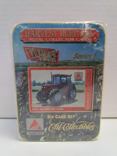 Ertl Collectibles Harvest Heritage Metal Collector Tractor Tin Set AGCO