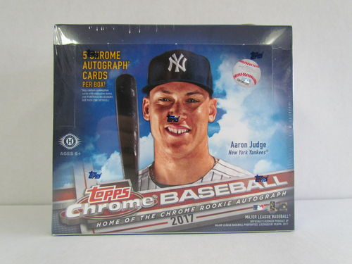 2017 Topps Chrome Baseball Jumbo Box