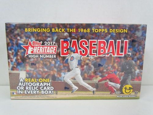 2017 Topps Heritage High Number Series Baseball Hobby Box