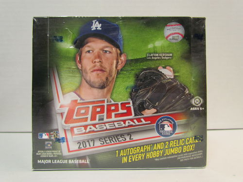 2017 Topps Series 2 Baseball Jumbo Box (plus 2 silver packs)