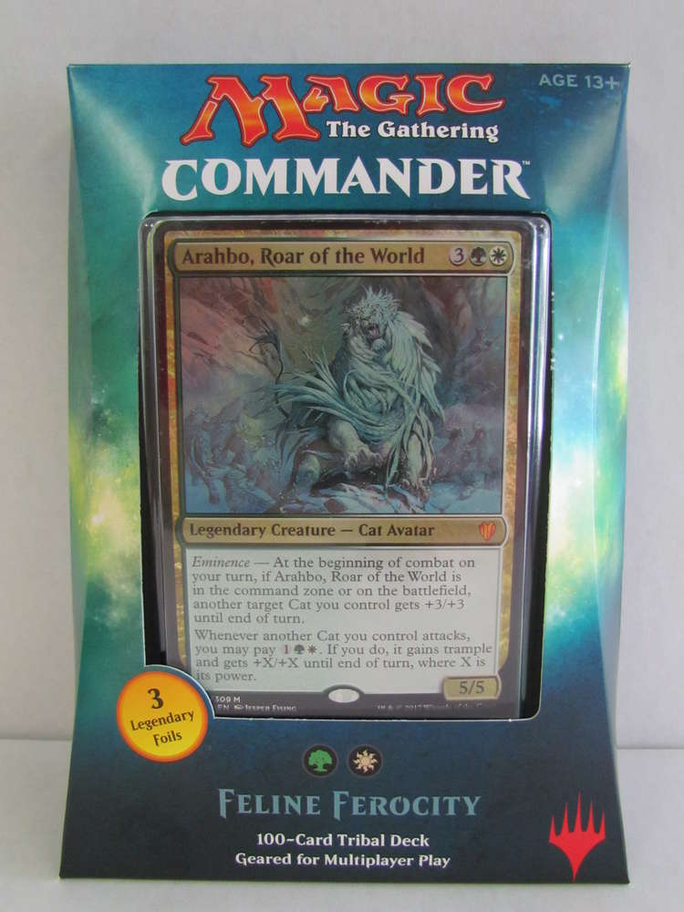 Magic the Gathering Commander 2017 FELINE FEROCITY
