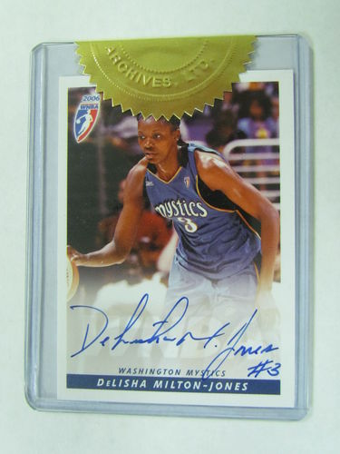 2006 Rittenhouse WNBA DeLisha Milton-Jones Autograph
