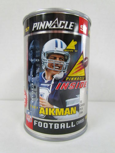 1997 Pinnacle Inside Football Can TROY AIKMAN