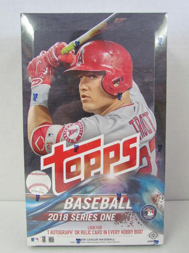 2018 Topps Series 1 Baseball Hobby Box (with 1 silver pack)