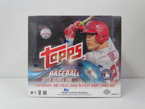2018 Topps Series 1 Baseball Jumbo Box (with 2 silver packs)