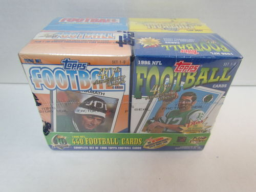 1996 Topps Football Cereal Box Factory Set