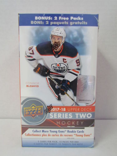 2017/18 Upper Deck Series 2 Hockey Blaster Box
