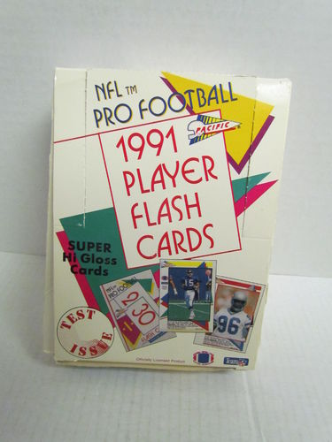 1991 Pacific Player Flash Cards Football Box