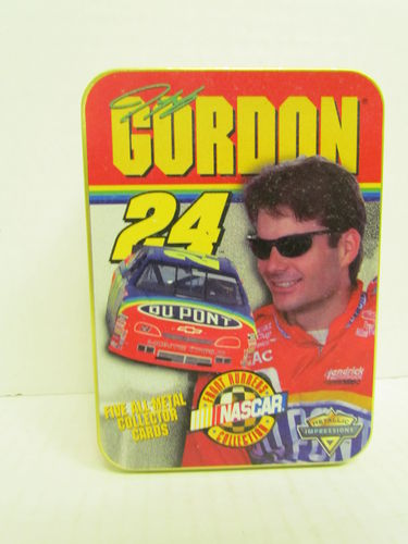 1997 Metallic Impressions Jeff Gordon Metal Card Set