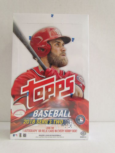 2018 Topps Series 2 Baseball Hobby Box (with 1 silver pack)