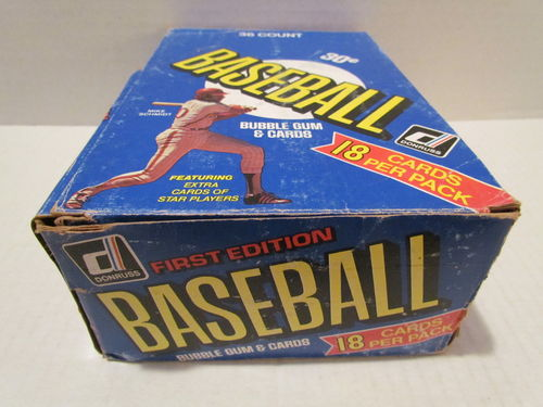 1981 Donruss Baseball Wax Box (box ripped)