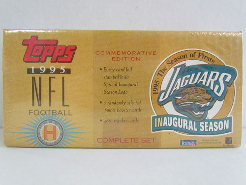 1995 Topps Football Jacksonville Jaguars Commemorative Edition Factory Set