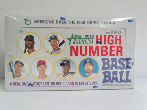 2018 Topps Heritage High Number Series Baseball Hobby Box
