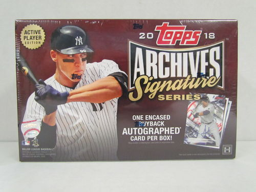 2018 Topps Archives Signature Series Active Player Edition Hobby Box