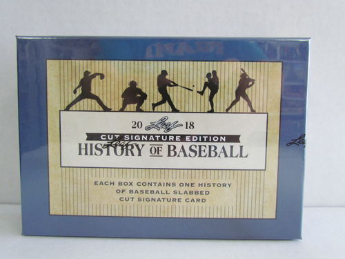 2018 Leaf History of Baseball Cut Signature Edition Hobby Box