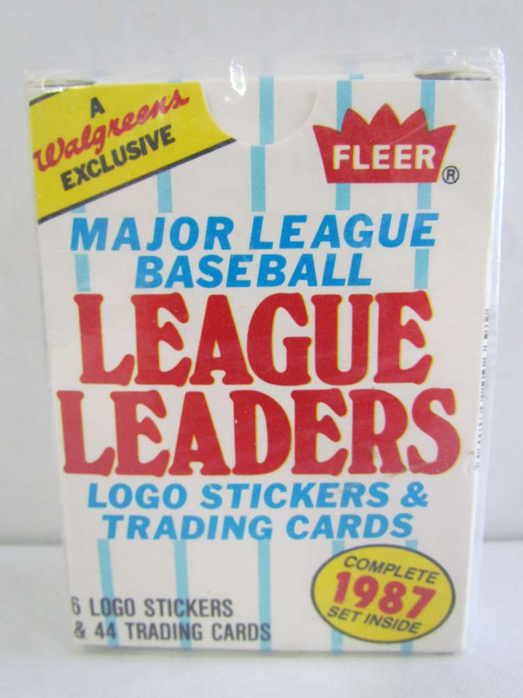 1987 Fleer Walgreens League Leaders Baseball Factory Set