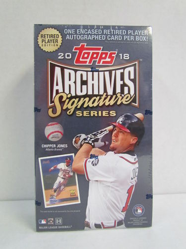2018 Topps Archives Signature Series Retired Player Edition Hobby Box