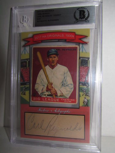 2017 Historic Autographs Originals The 1930s Series 1 CARL REYNOLDS