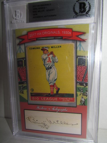 2017 Historic Autographs Originals The 1930s Series 1 BING MILLER
