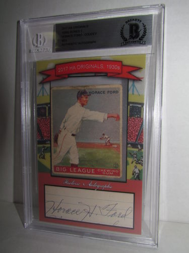 2017 Historic Autographs Originals The 1930s Series 1 HORACE FORD