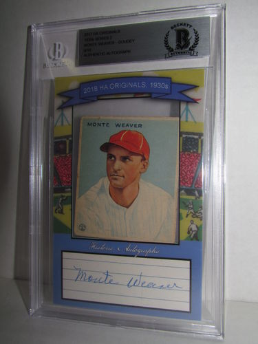 2018 Historic Autographs Originals The 1930s Series 2 MONTE WEAVER
