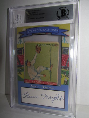 2018 Historic Autographs Originals The 1930s Series 2 GLENN WRIGHT