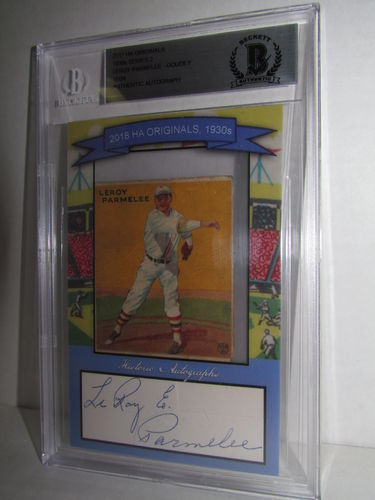 2018 Historic Autographs Originals The 1930s Series 2 LEROY PARMELEE