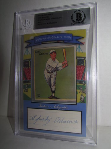 2018 Historic Autographs Originals The 1930s Series 2 SPARKY ADAMS
