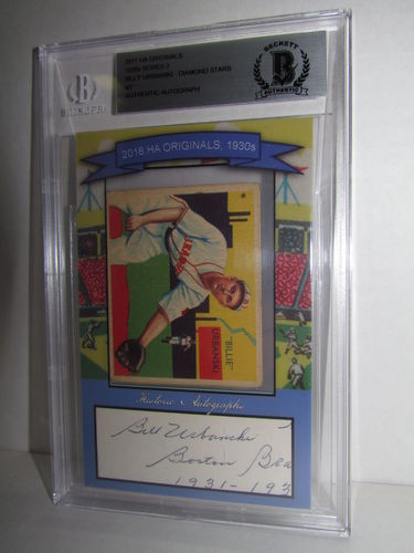 2018 Historic Autographs Originals The 1930s Series 2 BILLY URBANSKI