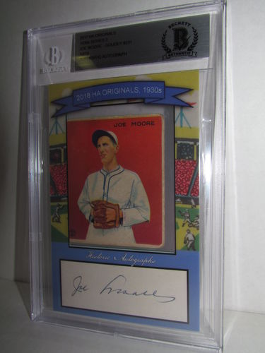 2018 Historic Autographs Originals The 1930s Series 2 JOE MOORE